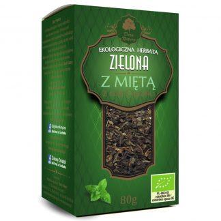 Žalioji Ceilono arbata su mėtomis Eko 80g