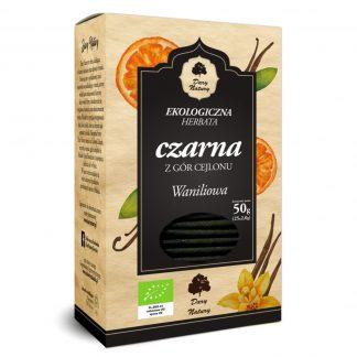 Juodoji Ceilono vanilinė arbata Eko 25x2g